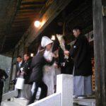 天津神社の神前式