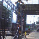 新幹線の工事糸魚川赤レンガ車庫跡地周辺
