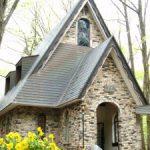 れんが造りの素敵な教会@白馬和田野の森教会