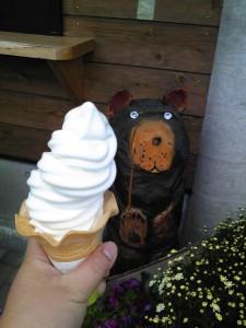 道の駅しなのソフトクリーム