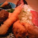 糸魚川駅前ランチ膳処くろひめミックスフライ定食
