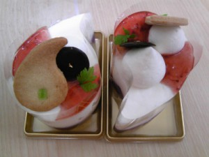 糸魚川市イチコ洋菓子店まがたまケーキ