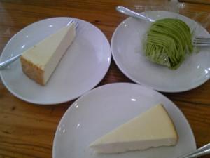 糸魚川市民会館ジョージズカフェフォークスNYチーズケーキ