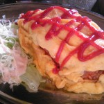 国道8号線早川橋にある喫茶店古麻樹のオムライス
