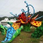 十日町市大地の芸術祭水玉で有名な草間彌生さんの作品