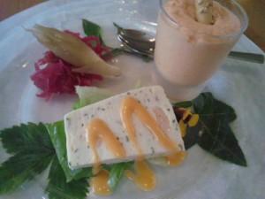 上越市春日山レストランオーパのプチコースランチ前菜