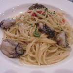 パスタ&ブュッフェライズカフェの生唐辛子と牡蠣のペペロンチーノ