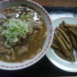糸魚川温泉クアリゾートひすいの湯もつラーメン