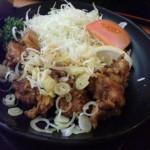 七福の湯上越の鶏唐揚げ甘酢ソース定食