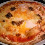 ラ・ナンシアネサメゴイ エゾジカのそぼろと思い出の卵ピッツァ