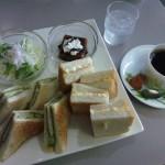 新潟県庁2階喫茶店のサンドイッチ