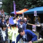 糸魚川天津神社春大祭けんか祭り2015鶏爺