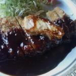 直江津駅前レストランベニスの味噌かつ定食