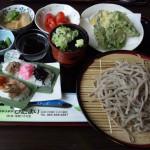 能生農家キッチンひだまりの蕎麦と笹寿司