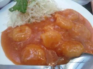台湾料理福泰源の海老チリ定食