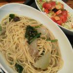 糸魚川市民会館2階ジョージズカフェフォークス冬瓜と茄子のパスタ