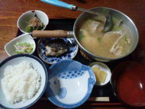 富山県朝日境ひまつぶしタラ汁定食