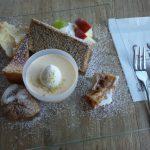 糸魚川市フェルエッグ カフェスペースのケーキセット