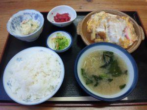 糸魚川市南押上かんざん かつ煮定食