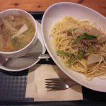 糸魚川市民会館2階ジョージズカフェフォークス ひき肉とカブのパスタ