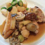 美山レストラン アンフィートリヨンの若鶏のソテー