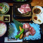 新潟駅南ホテルメッツ1階 魚沼釜蔵 和豚もちぶた肩ロース石焼御膳