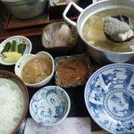 糸魚川国道8号線沿い 蒸気茶屋つみれ汁定食