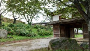 長野県飯山城址公園の門