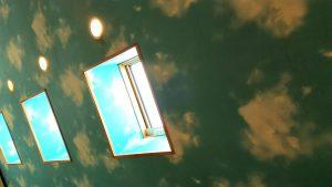 トラットリアレアーリの天井