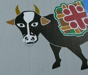 牧江米店牛の絵